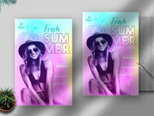 Free Fresh Summer Flyer Template in PSD