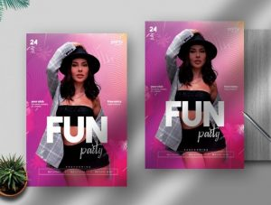 Free Fun Party Flyer Template in PSD