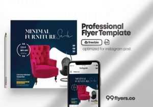 Free Furniture Sale Week Flyer Template in PSD