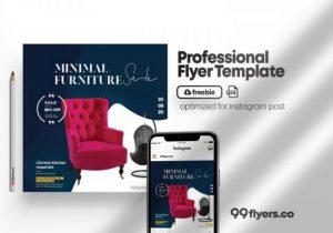 Free Furniture Sale Week Flyer Template in PSD