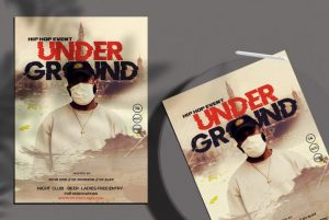 Free Hip Hop Under Ground Flyer Template in PSD