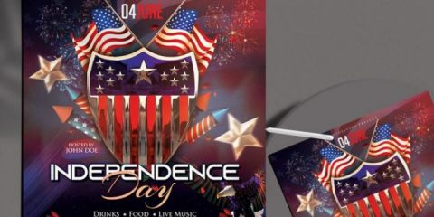 Free Independence Day 2020 Flyer Template in PSD