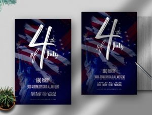Free Independence Day Flyer Template in PSD