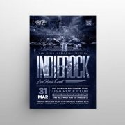 Free Indie Rock Festival Flyer Template in PSD