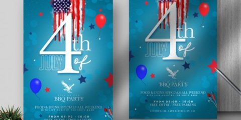Free Memorial Day Flyer Template in PSD