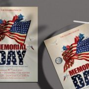 Free Memorial Day Party Flyer Template in PSD