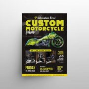 Free Motorcycle Show Flyer Template in PSD