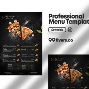 Free Restaurant Food Menu Template in PSD