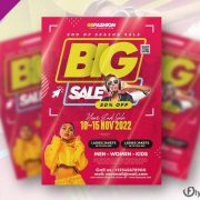 Free Season Sale Flyer Template in PSD