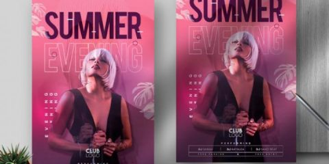 Free Summer Evening Flyer Template in PSD
