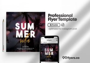 Free Summer Time Vibe Flyer Template in PSD