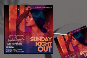 Free Sunday Night Out Flyer Template in PSD