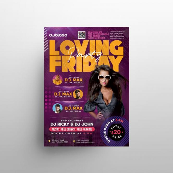 Free Weekend Party Flyer Template in PSD