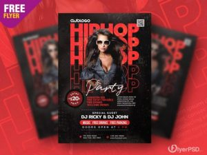 Hip Hop Night Free PSD Flyer Template
