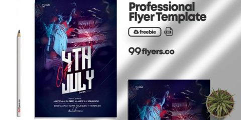 Independence Day Free Flyer Template in PSD