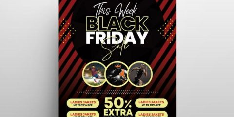 Black Friday Free Flyer Template in PSD
