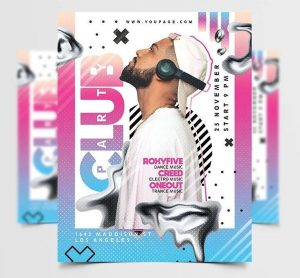 Free Artist DJ Party Flyer Template in PSD