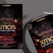Free Christmas Night Event Flyer Template in PSD