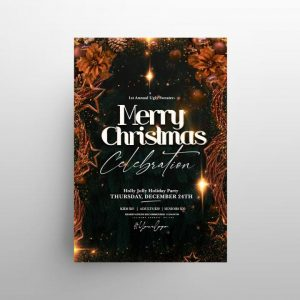 Free Christmas Party Flyer Template in PSD