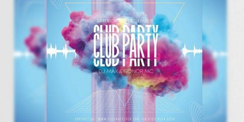 Free Club Party Vibes Flyer Template in PSD