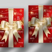 Free Elegant Christmas Flyer Template in PSD