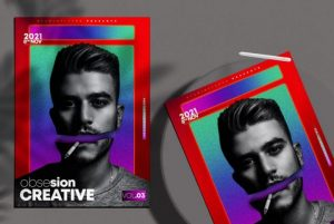 Free Obsesion Creative Flyer Template in PSD