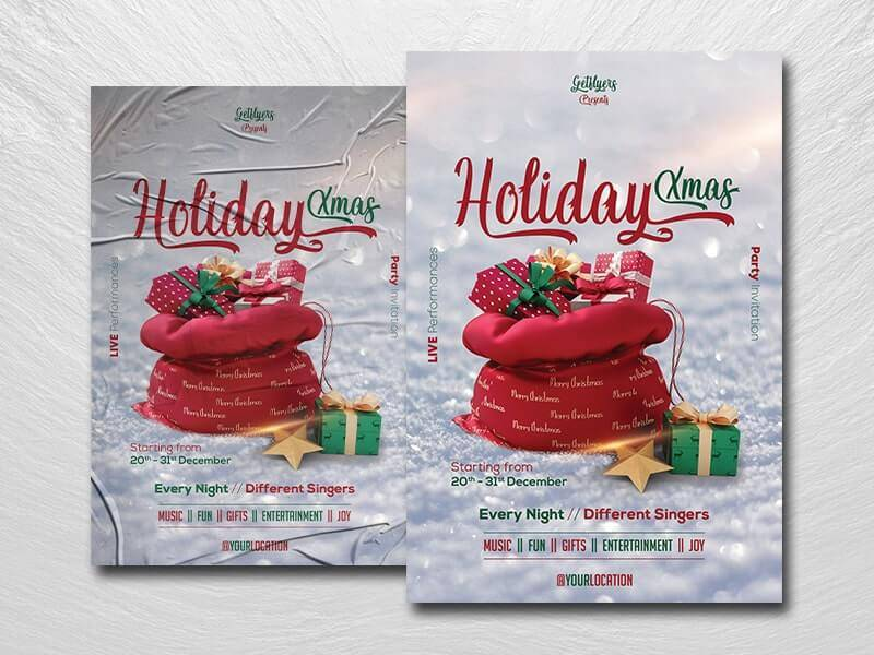 Free Christmas Day Event Flyer Template in PSD