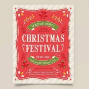 Free Christmas Festival Flyer Template in PSD