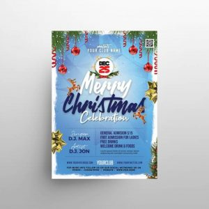 Free Christmas Flyer Template in PSD