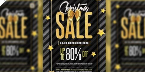 Free Christmas Sale Flyer Template in PSD