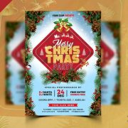 Free Christmas Time Flyer Template in PSD
