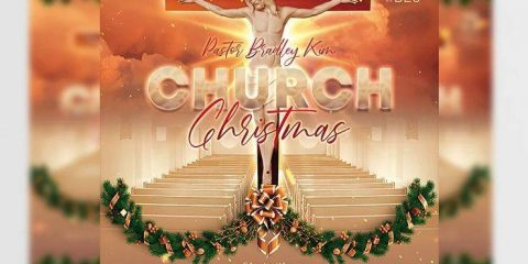 Free Church Christmas Event Flyer Template in PSD