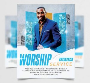 Free Church Flyer Template in PSD