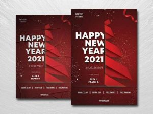 Free Happy NYE Eve Flyer Template in PSD