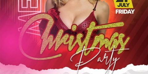 Free Merry Xmas Party Flyer Template in PSD