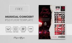 Free Musical Concert Flyer Template in PSD
