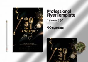 Free New Years Eve Event Flyer Template in PSD
