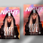 Free Night Life Flyer Template in PSD