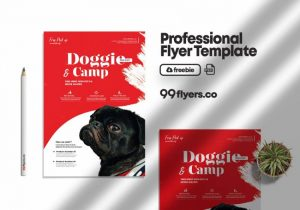 Free Pet Daycare Flyer Template in PSD
