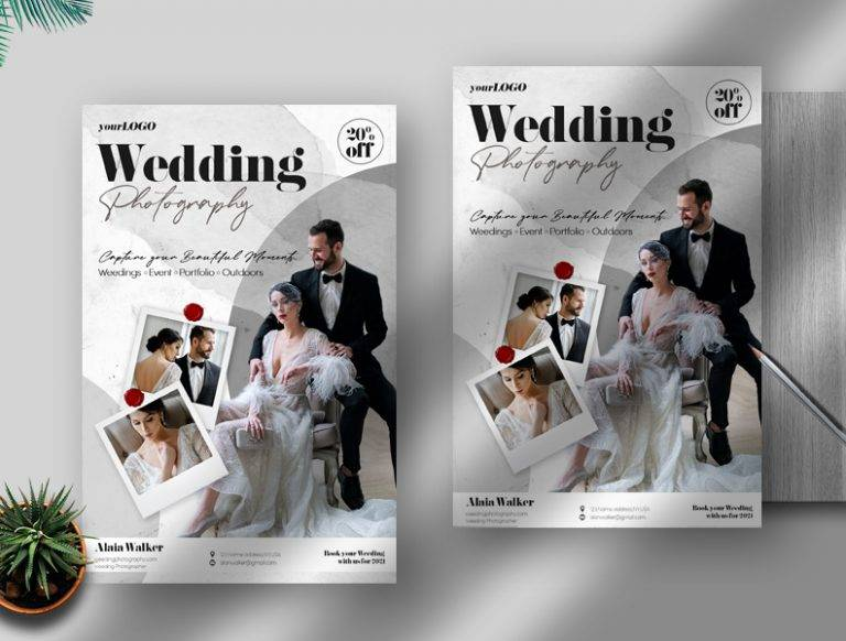 Free Wedding Photography Flyer Template in PSD