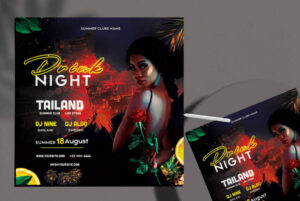 Drinks Night Party Free Flyer Template (PSD)