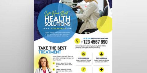 Healthcare & Pharm Ad Free Flyer Template (PSD)