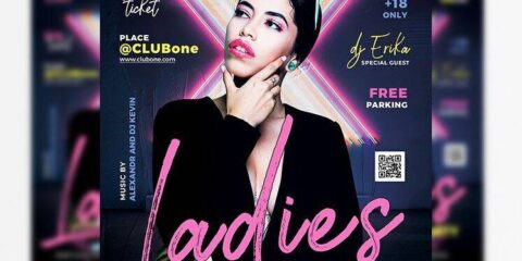Ladies Night Event Free Flyer Template (PSD)