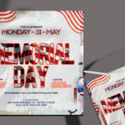 Memorial Day 2021 Party Free Flyer Template (PSD)