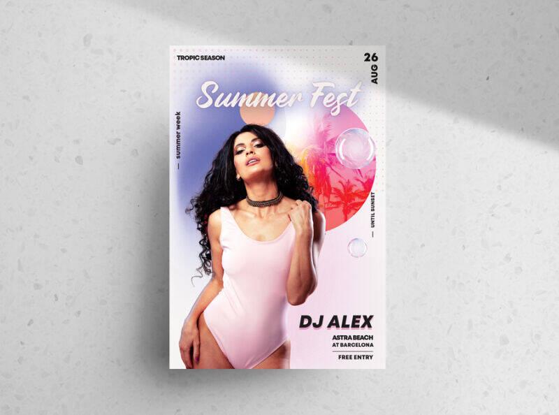 Summer Fest Free Flyer Template (PSD)
