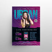 Urban Dance Party Free Flyer Template (PSD)