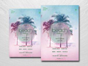 Beach Vibes Free Flyer Template (PSD)