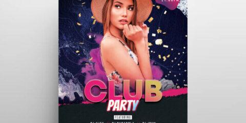 Club Artist Event Free Flyer Template (PSD)