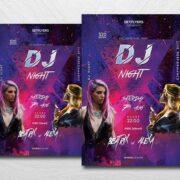 DJ Battle Party Free Flyer Template (PSD)