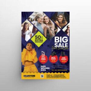 Free Big Sale Pamphlet Flyer Template (PSD)
